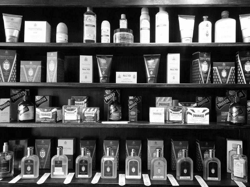 inside view of cut throat shave shop
